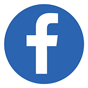 Circular icon with Facebook logo
